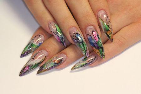 наращивание ногтей гелем дизайн видео: